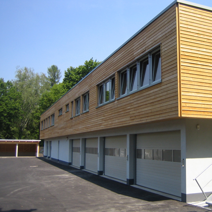 Holz-Aluminiumfenster und -haustüren: Friedhofsverwaltung Frankfurt a.M.