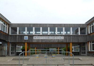 Holz-Aluminiumfenster und -fluchttüren: Dr.-Kurt-Schumacher-Schule Reinheim