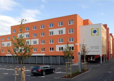 Aluminiumfenster und –haustüren: Studierendenwohnheim Mainz