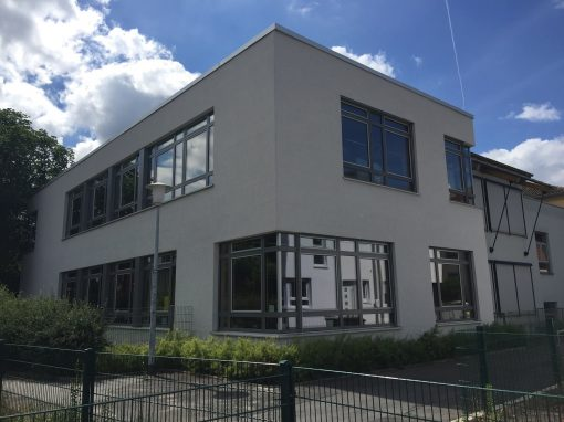 Holz-Aluminiumfenster und -haustüren: Wallstadtschule Mannheim